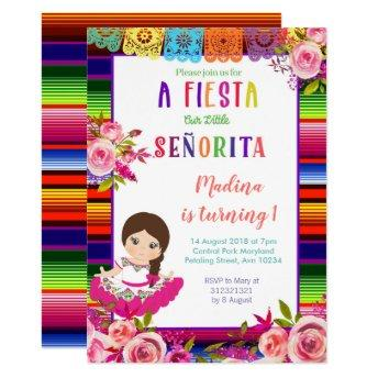 Floral Mexican birthday Invitation