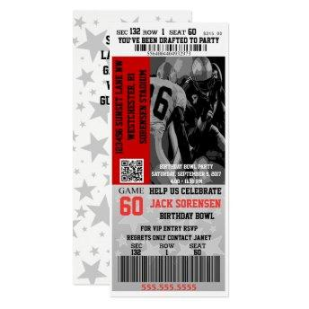 Football Ticket Sports Theme Party