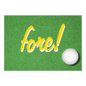 Fore Golf Birthday Party