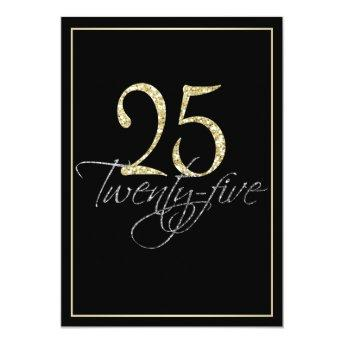 Formal Silver Black and Gold 25th Birthday Party