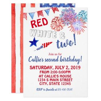 Fourth of July Birthday Invitation