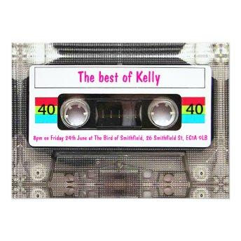 Funny DJ 80s Cassette Tape 40th Birthday custom