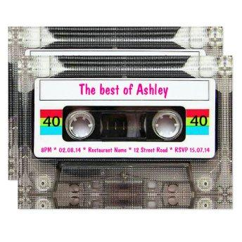 Funny DJ 80s Cassette Tape 40th