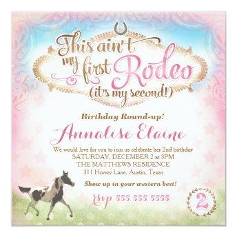 GC This Ain't My First Rodeo 2nd Birthday