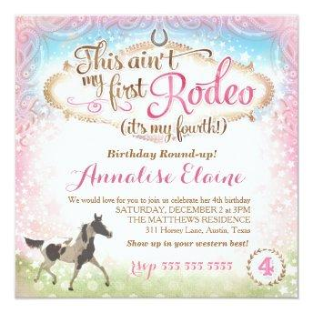 GC This Ain't My First Rodeo 4th Birthday