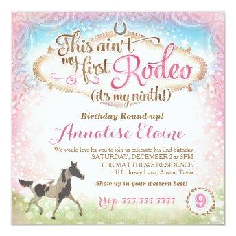 GC This Ain't My First Rodeo 9th Birthday