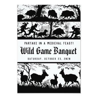 German Style Medieval Feast Wild Game Dinner Invitation