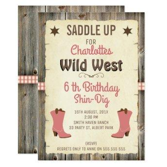 Girls Cowgirl Boots Wild West Birthday