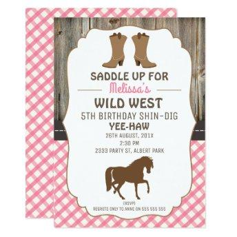 Girls Horse Wild West Birthday Party