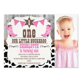 Girls Hot Pink Wild West 1st Birthday