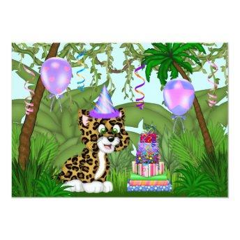 Girls Jungle Leopard Birthday Party