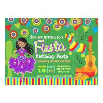 Girls Mexican Fiesta Birthday Party