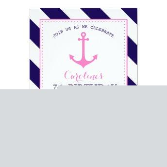 Girl's Nautical Birthday Party - Anchor  Crab