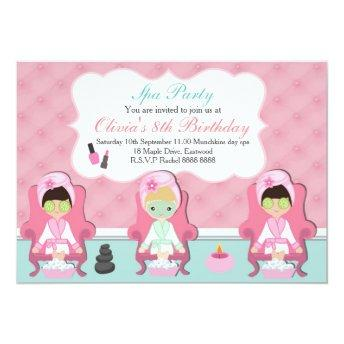 Girls Spa  Pamper party Invite