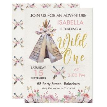 Girl's Teepee Wild One 1st Birthday