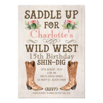 Girls Vintage Wild West Birthday