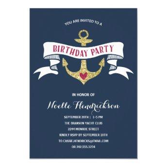 Glam Anchor | Nautical Birthday Party