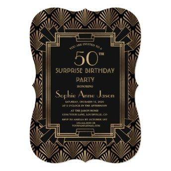Glam Roaring 20's Great Gatsby ANY AGE Birthday Invitation