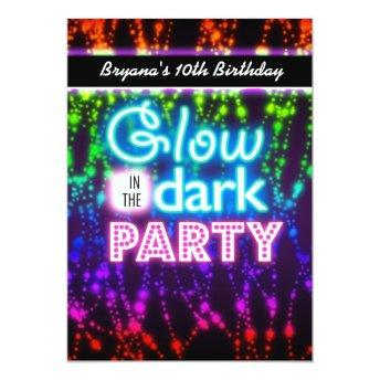Glow in the dark neon party  Rainbow