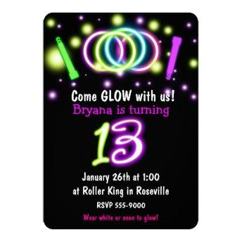 GLOW Lights 13th Birthday Party Age 13