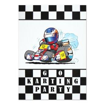 Go Karting Party Invitation