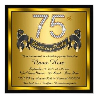 Gold 75th Birthday Party