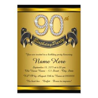 Gold 90th Birthday Party
