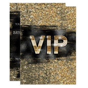 Gold & Black Glam Chic Club VIP Party Invitation