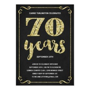 Gold Typography | Faux Foil 70th Birthday Party