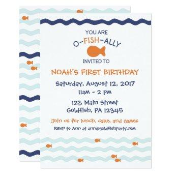Goldfish Birthday Party