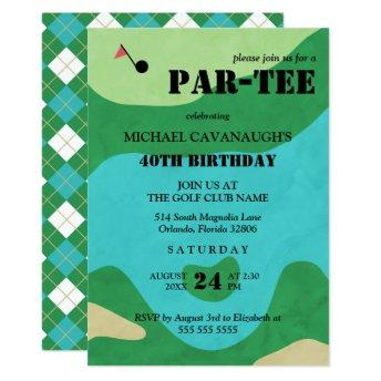 Golf Course Birthday Party Invitation