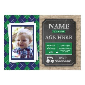 Golf Golfing Any Age Birthday Party Photo Invite