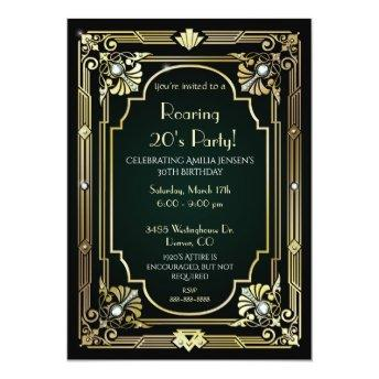 Great Gatsby 30th Birthday Invitation