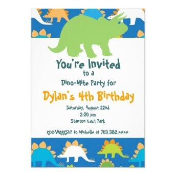 Green and Blue Dinosaur Birthday Party