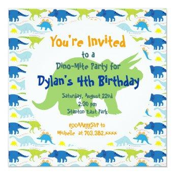 Green & Blue Dinosaurs Birthday Party