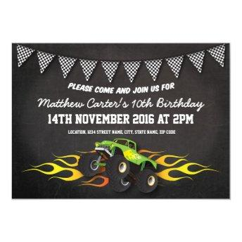 Green Monster Jam Truck Birthday Party