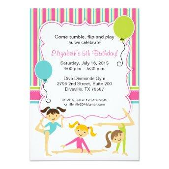 Gymnastic Girls Birthday Party