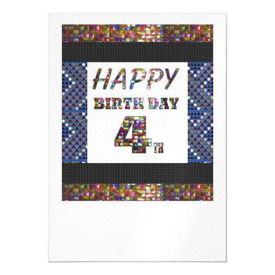 Happy 4th birthday template diy add text quote 4 magnetic invitation 295 happy 4th birthday template diy add text quote 4 magnetic invitation filmwisefo