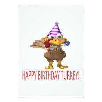Happy Birthday Turkey Invitation