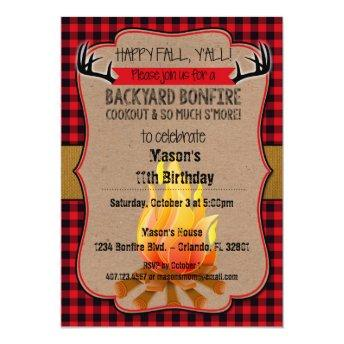 Happy Fall, Y'all! Bonfire Invitation