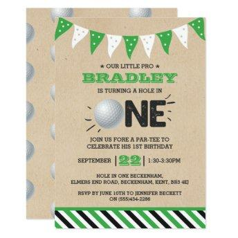 Hole In One | Golf 1st Birthday Par-tee Invitation