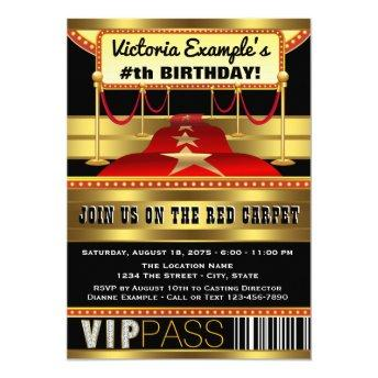 Hollywood Red Carpet Party Invitation