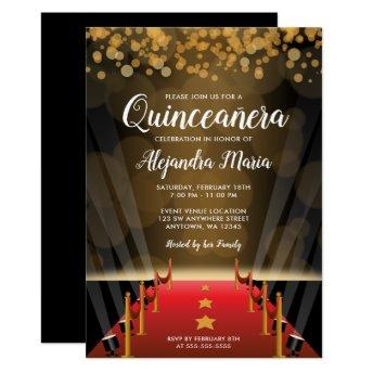Hollywood Red Carpet Quinceanera Invitation