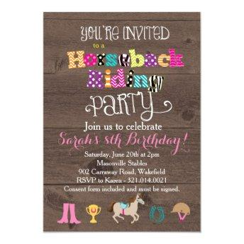 Horseback Riding Birthday Party