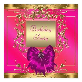 Hot Pink, Orange and Gold Birthday Party