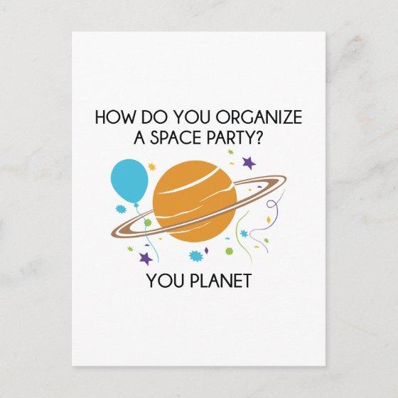 How Do You Organize A Space Party You Planet Invitation
