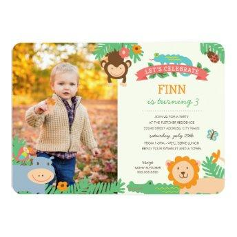 In the Jungle Birthday Party Invite