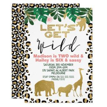 Joint Safari Let's Get Wild Birthday Invitation
