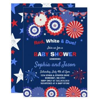July 4th Baby Shower Invitation 4th of July Shower