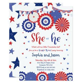 July 4th Gender Reveal Party